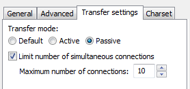 FileZilla FTP - Transfer Settings