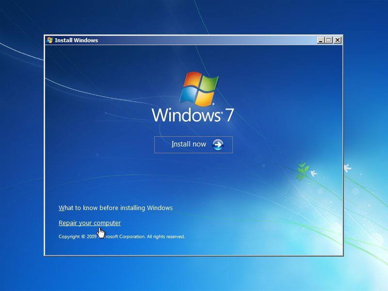 Windows 7 Startup Repair - Picture provided by About.com