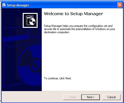 Sysprep Setup Manager