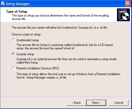 Sysprep - Sysprep.inf File