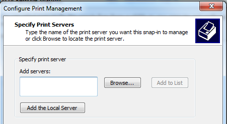 MMC - Add the Local Server