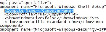 Unattend.xml Computer Name