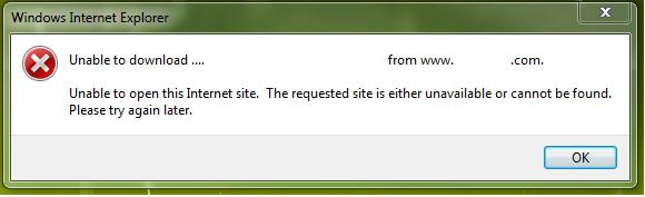 IE9 download error
