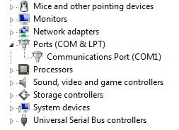 com ports in use