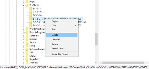 you have been logged on with a temporary profile