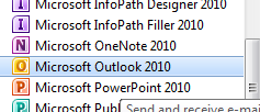 Microsoft Outlook Step 1