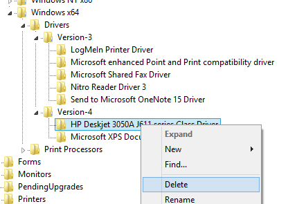 Please read beofre Proceeding: Only attempt to remove the printer drivers if you're having very odd driver issues with printers in Windows 7 or Vista- e.g. you are seeing 'copy 1' 'copy 2' etc after your printer name and none of the printers seem to work.