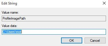 temporary profile