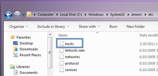 Hosts File