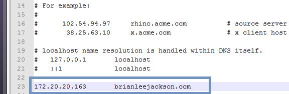 Host File IP