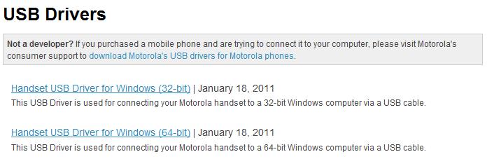 Motodev Downloads