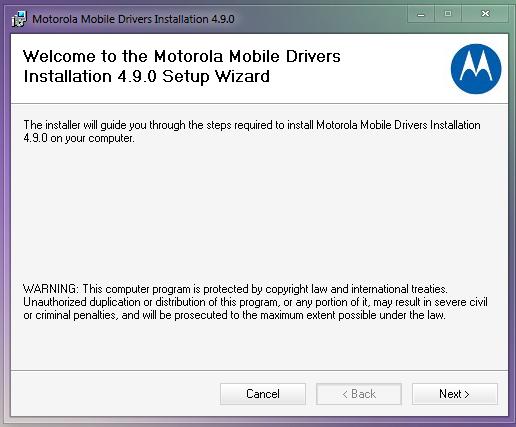 Motodev USB Driver Software