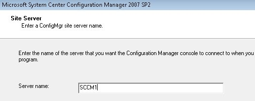 how to install configmgr console for sccm