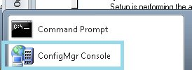 how to install configmgr console for sccm setup