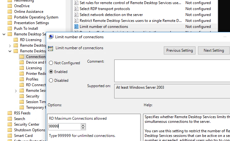 Windows Server 2008 Allow Multiple RDP Sessions - TheITBros