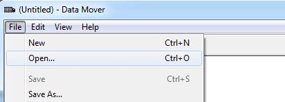 DataMover - File Open