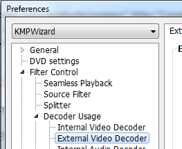 KMPlayer - External Video Decoder