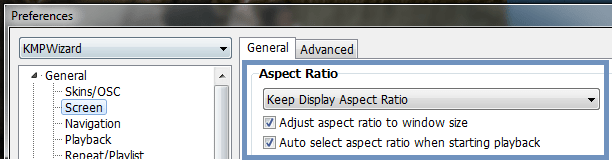 KMPlayer Aspect Ratio