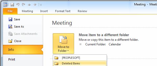 MS Outlook Meeting