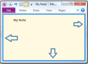 Select OneNote Note