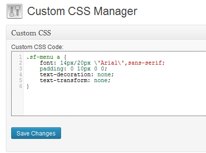 custom-css-manager
