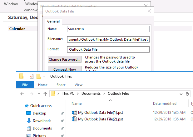 Archive File Outlook