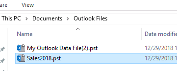 how to rename outlook archive folder
