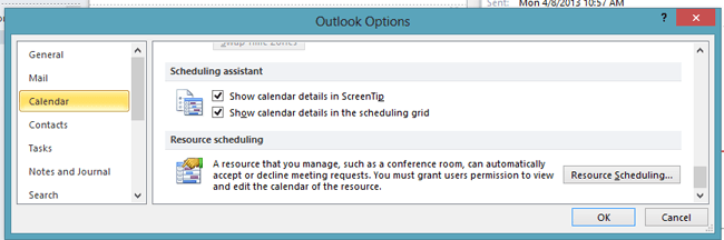 outlook-resource-scheduling