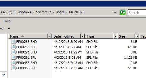 Windows Server 2008 Print Job is Stuck in the Queue