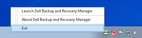 exit-dell-backup-and-recovery-manager