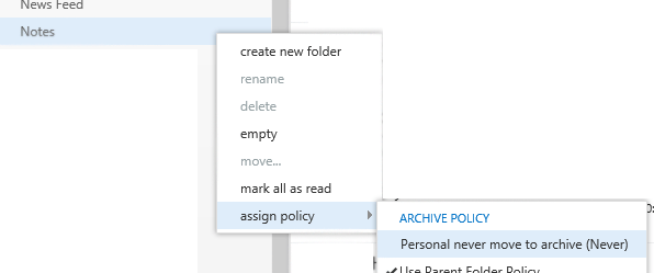 outlook notes missing after migration to office 365