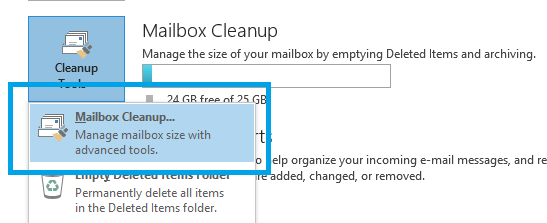 Outlook2013-cleanup-mailbox