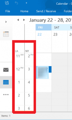 How Does Microsoft Outlook Convert Time Zones for Meetings?