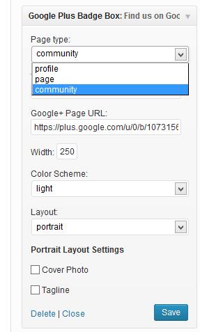 google-plus-widget-options