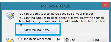 outlook2013-view-mailbox-size