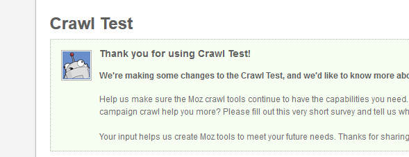 Forcing Moz Crawl