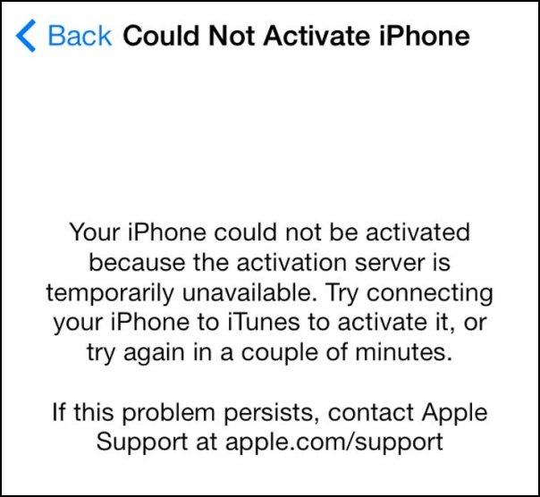 ios7 activation