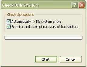 check disk