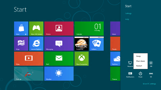windows 8 issues - shut down