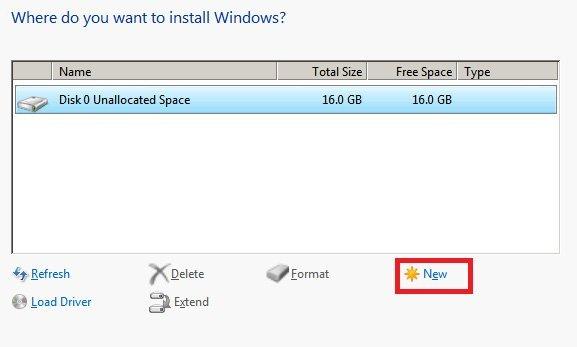 Error 0x80070057 during Windows install