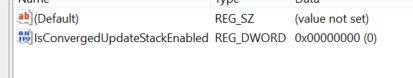 Error 0x80070057 registry