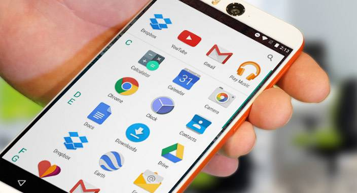 android m apps menu