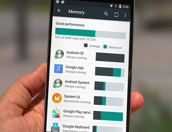 android marshmallow ram manager