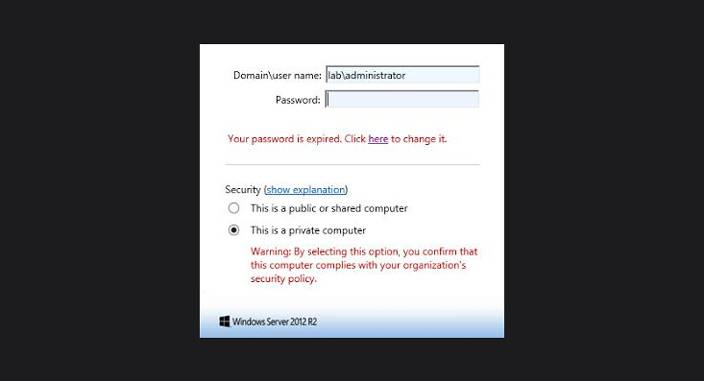 password RDS