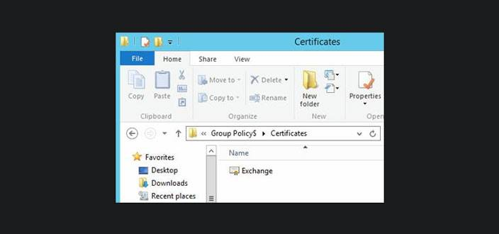 certificates group policy