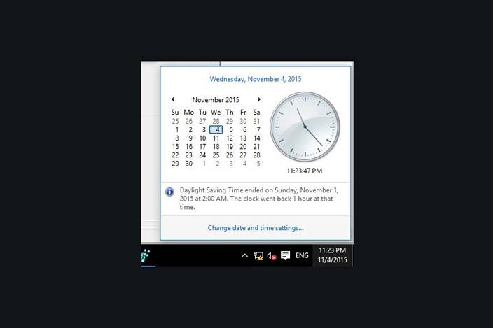 windows 10 date and time panel