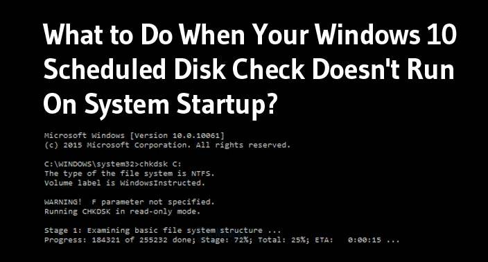how to change scheduled disk check