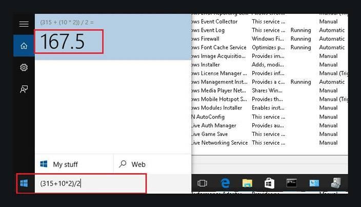 windows 10 start menu calculator