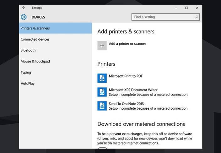 add printers windows 10