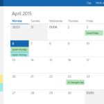 calendar app windows 10